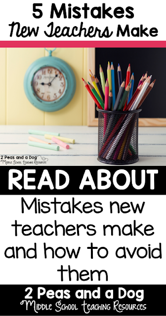 New teachers often make these 5 mistakes that set themselves up for a year of challenging classroom management problems and other avoidable issues from the 2 Peas and a Dog blog.