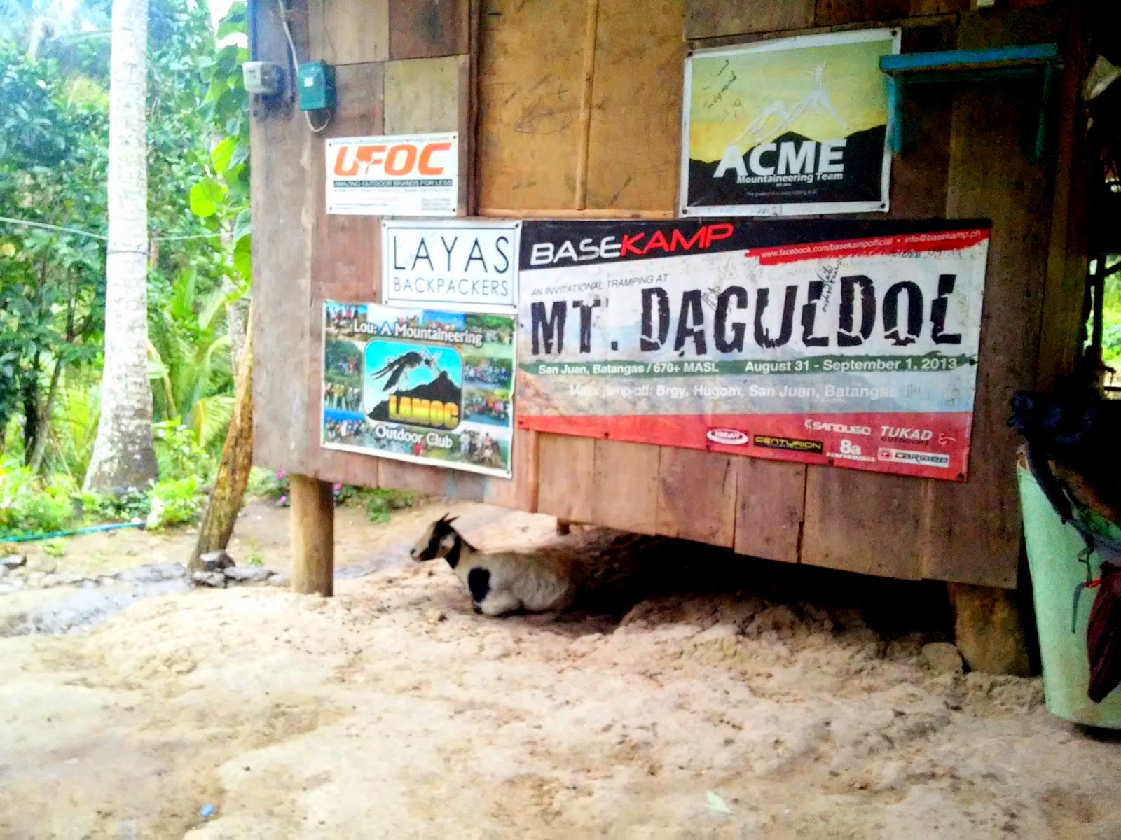 One of the stores at the Mt. Daguldul Trail