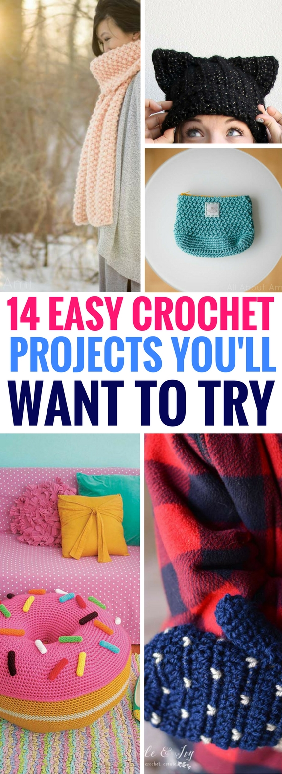 Easy Crochet Projects With Free Step By Step Tutorials