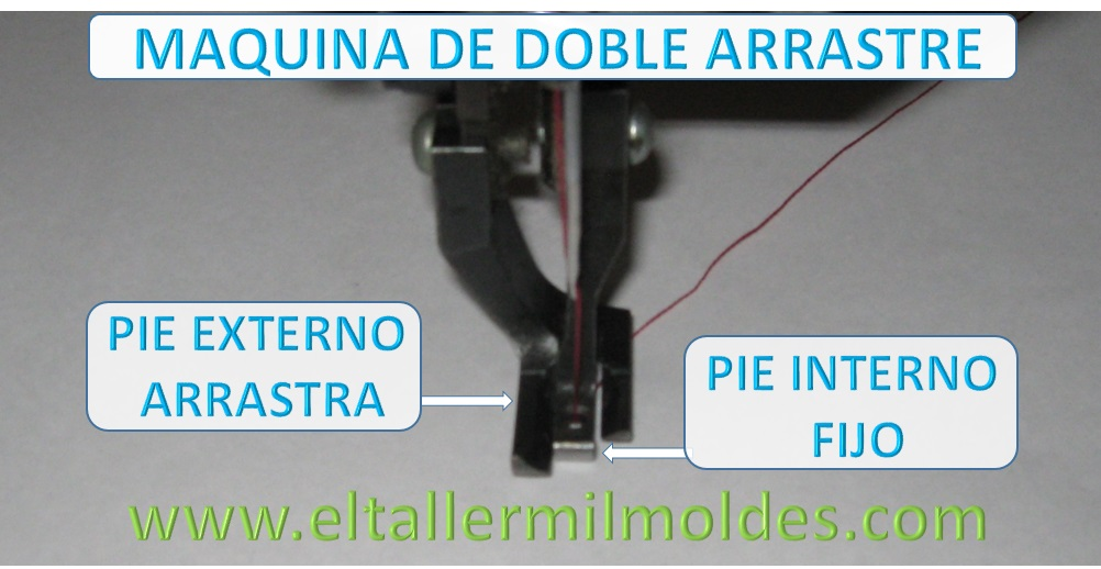 MAQUINA DE COSER RECTA INDUSTRIAL DE DOBLE ARRASTRE