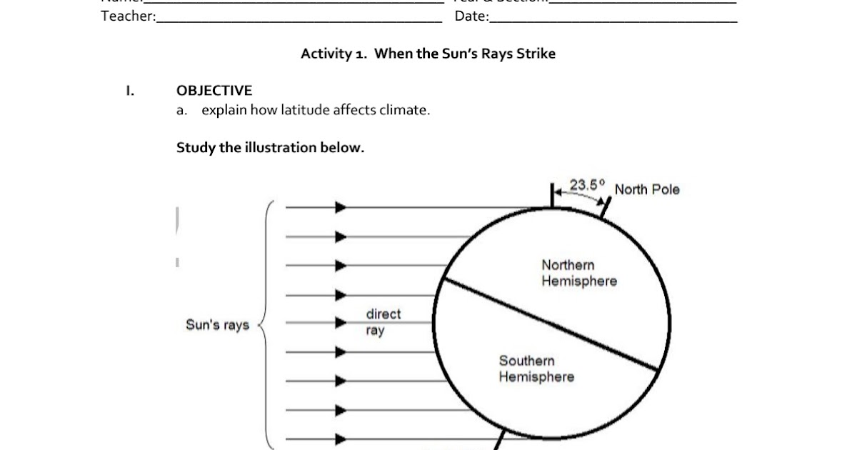 Science Concepts and Questions (K to 12): Climate Activities