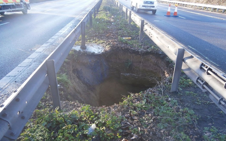 Sinkholes, craters in north Kent