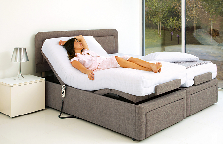 6ft+adjustable+bed+with+model - Adjustable King Size Beds: Dual Electric Beds