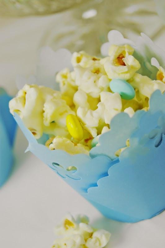 Baby Shower White Chocolate Popcorn