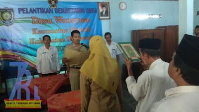 Pengambilan Sumpah Sekdes Desa Wonoyoso