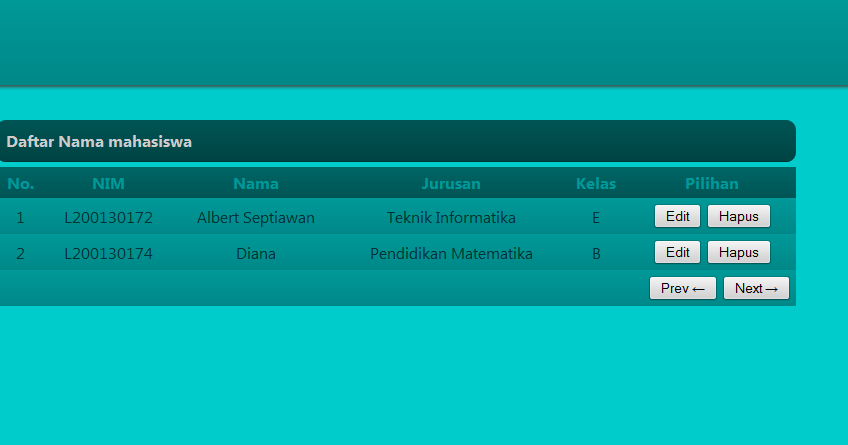 Aplikasi Data Mahasiswa dengan PHP dan MySQL   Albert Blogs
