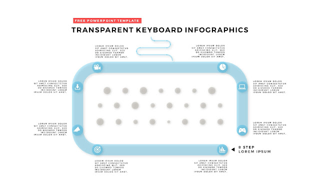 Free PowerPoint Design Elements with Transparent Keyboard Infographics Slide 12