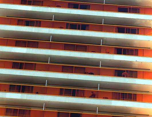 urban photography, orange hotel, contemporary, abstract, architecture, Spain, Sam Freek,