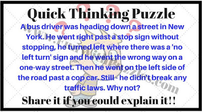 Quick Thinking Puzzle Question