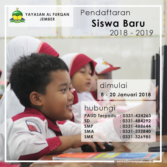 Pendaftaran Penerimaan Peserta Didik Baru Tahun Pelajaran 2018-2019