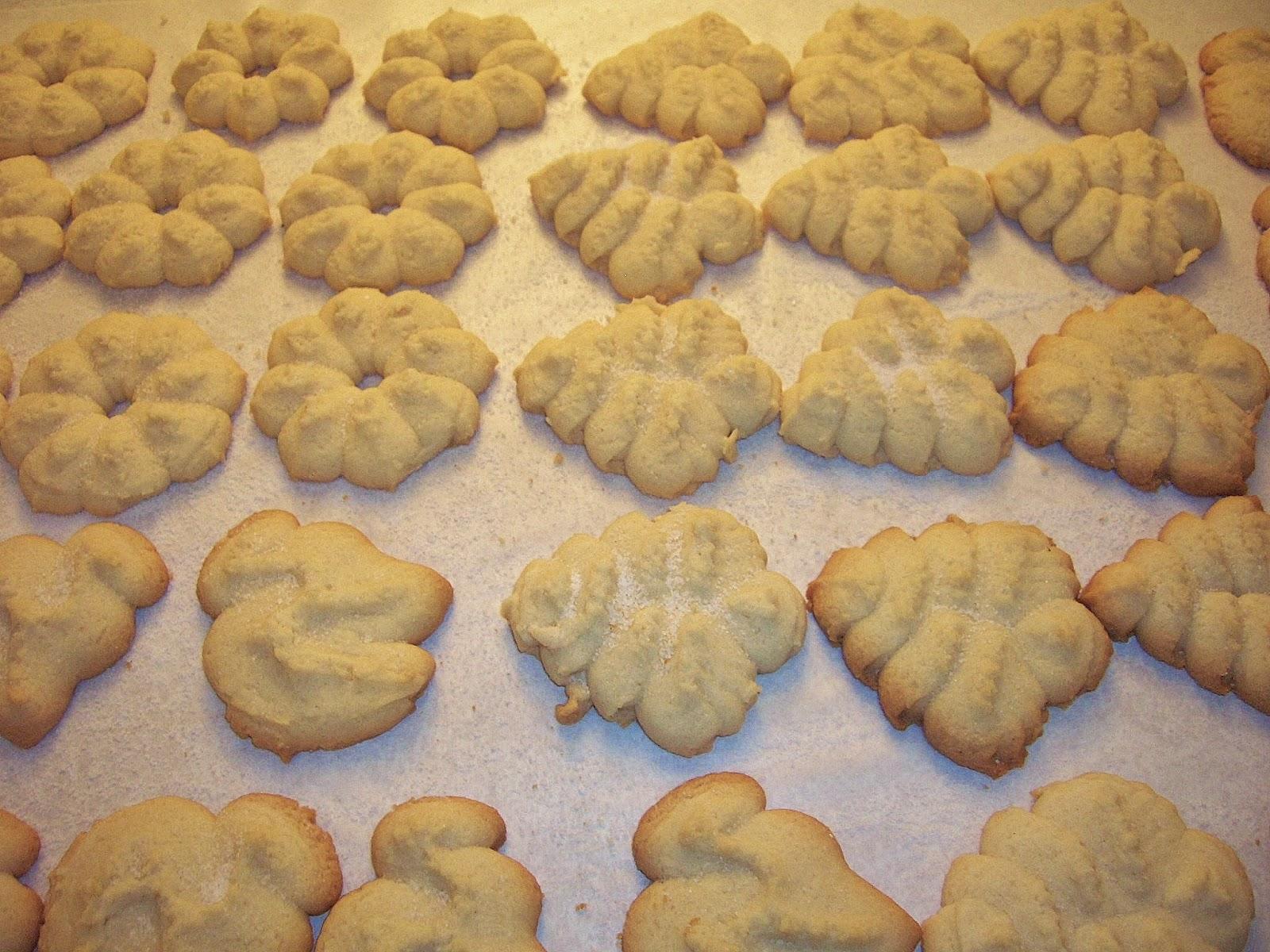 homemade gluten free spritz Christmas cookies