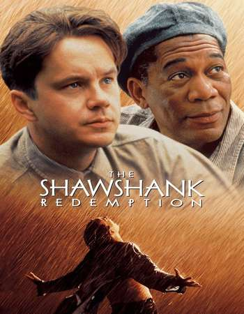 Poster Of The Shawshank Redemption 1994 English 450MB BRRip 720p ESubs HEVC Free Download Watch Online Worldfree4u