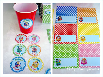 customized labels paw patrol