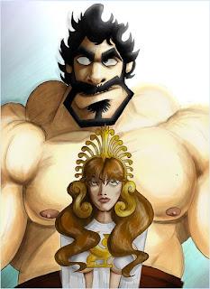 Lou Ferrigno Hercules caricature