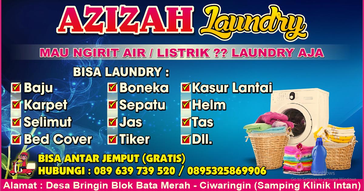 4 Contoh Desain banner spanduk laundry CDR terbaru ...
