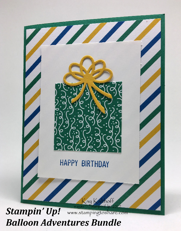 A Birthday Card With The Balloon Adventure Bundle Created By Kay Kalthoff Stamping To Share