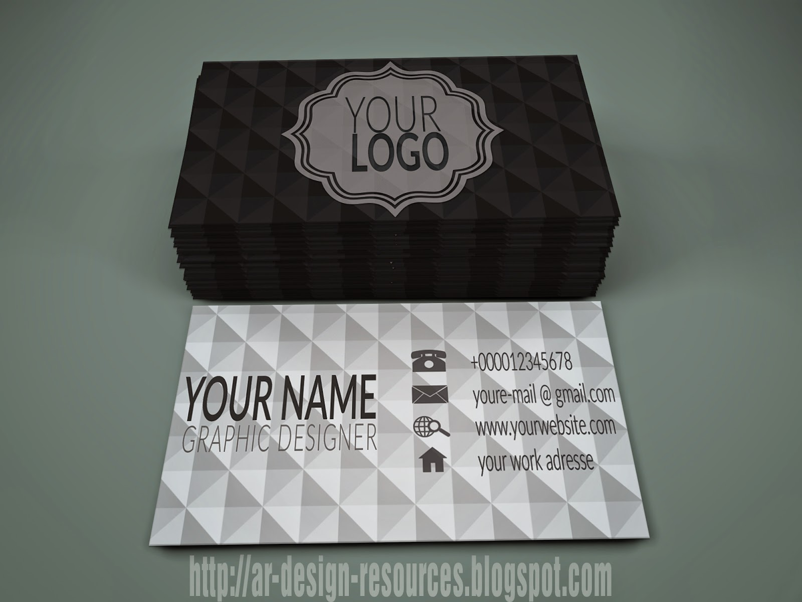 Creative triangle Personal business card | Adobe Photoshop Tutorial