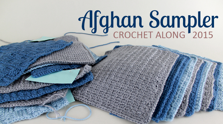 Crochet Along Afghan Sampler 2015 from The Inspired Wren | CAL with 2 squares per month for a complete blanket in one year!