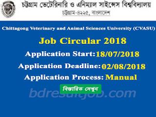 CVASU Job Circular 2018