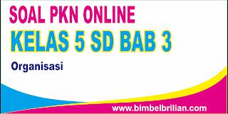 Soal PKN Online Kelas 5 SD Bab 3 Organisasi - Langsung Ada Nilainya