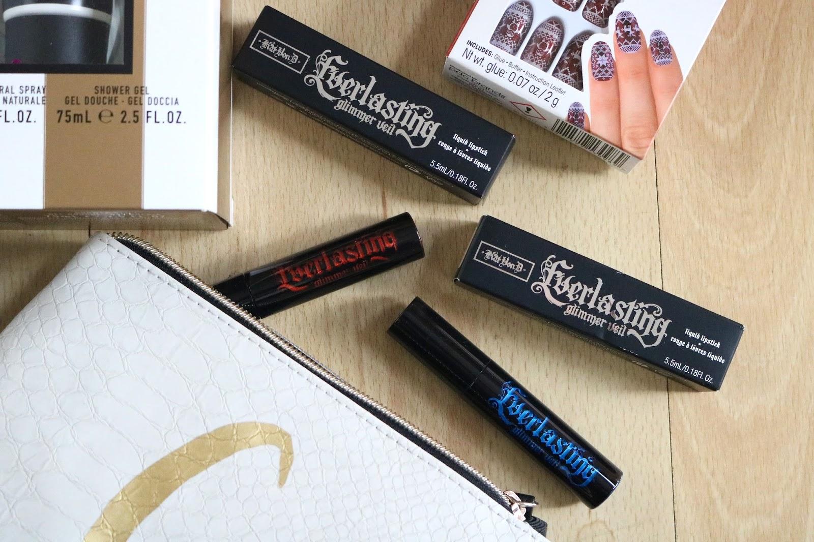 Kat von d everlasting glimmer veil liquid lipsticks
