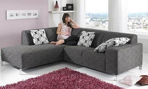 Sofa Minimalis L Sudut Modern Bahan Kain