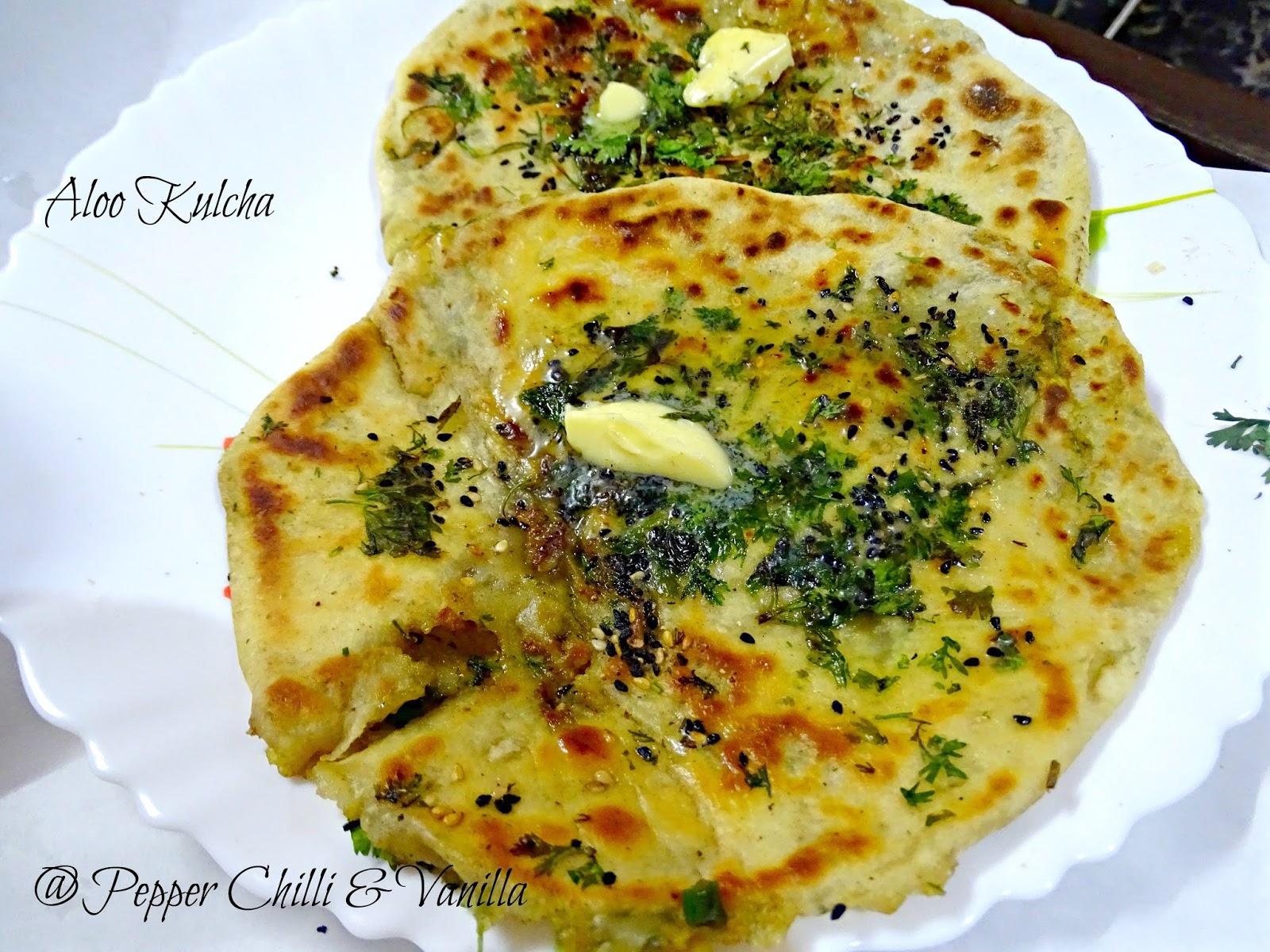 Amritsari kulcha aloo kulcha pepper chilli and vanilla ingredients forumfinder Images