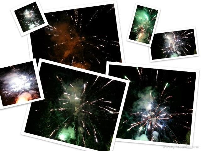 collage di fuochi d'artificio