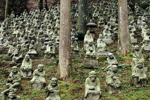 Sennyo-ji Temple 500 rakan statues, Fukuoka Prefecture.