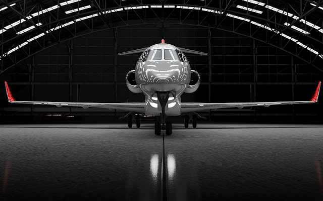 Bombardier Learjet 85 On-hangar Rendering Image