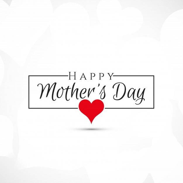Simple mothers day design Free Vector