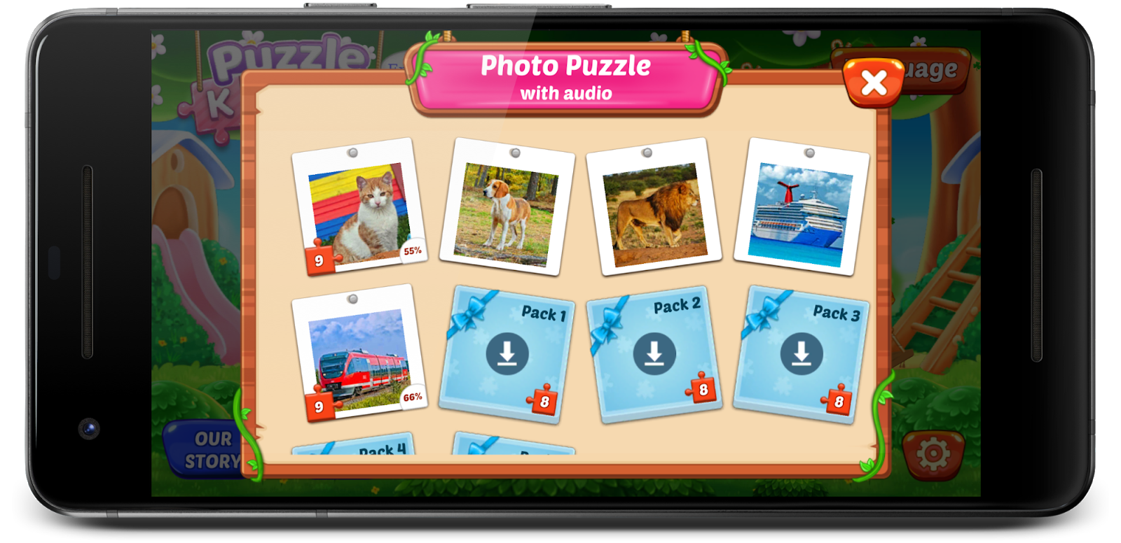 Puzzle Kids - Animals Shapes and Jigsaw Puzzles game