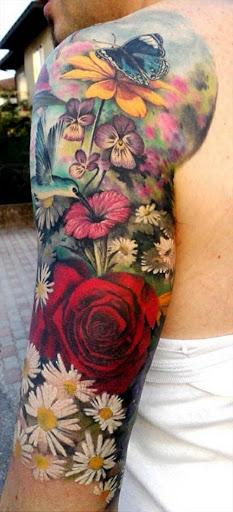 Flores De Manga Tatuagem