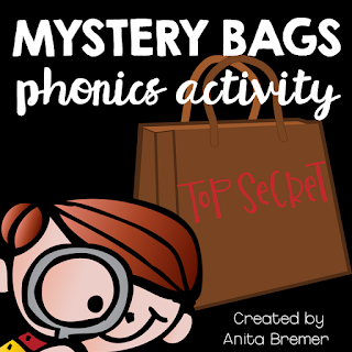 A fun phonics literacy activity for the whole class! Students try to guess what is in the Mystery Bag, based on the letter's sound. An engaging and exciting activity that promotes letter sound learning in Kindergarten. #phonics #mysterybags #kindergarten #literacy #alphabet #lettersounds #kindergartenactivities