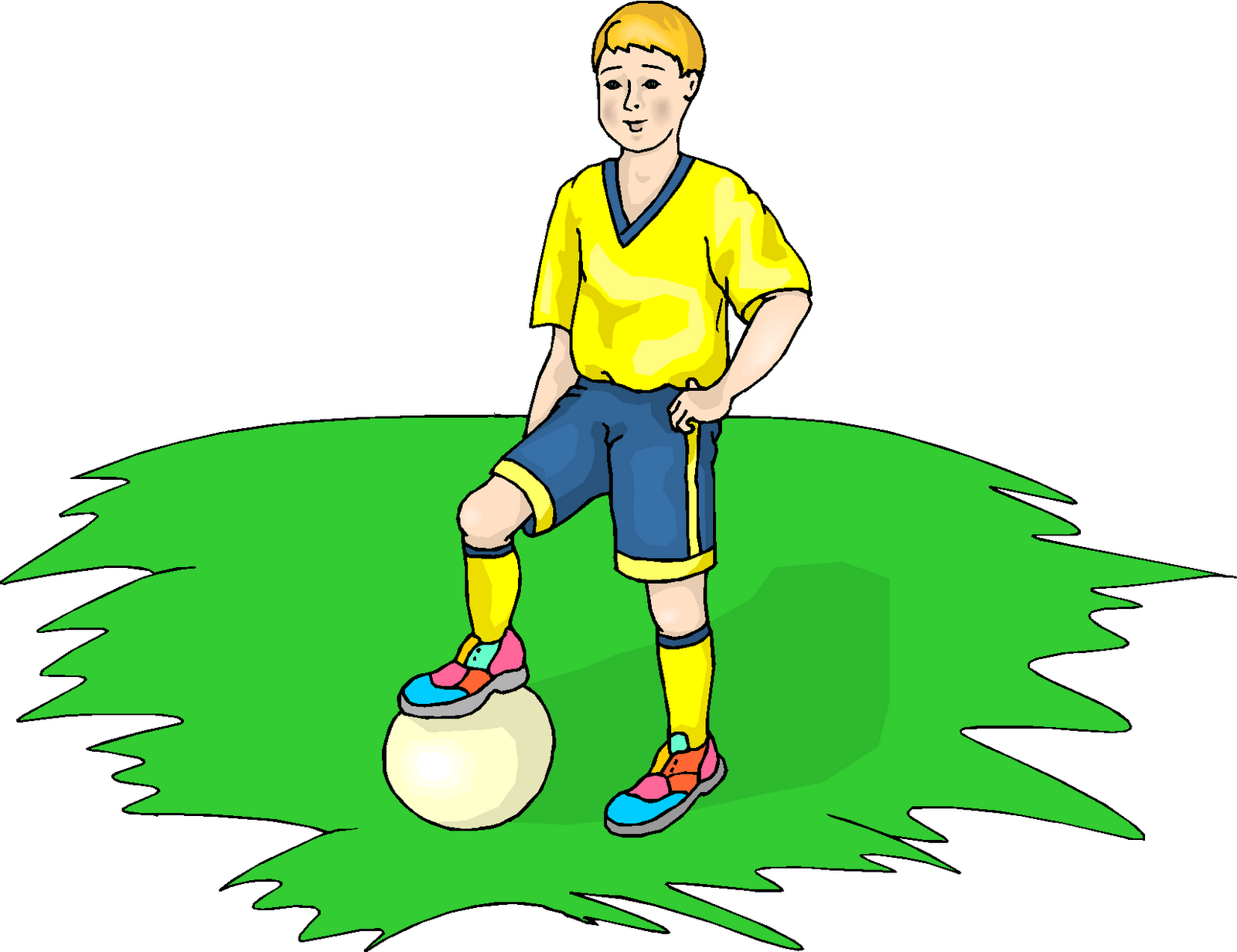Boy Play Football Free...