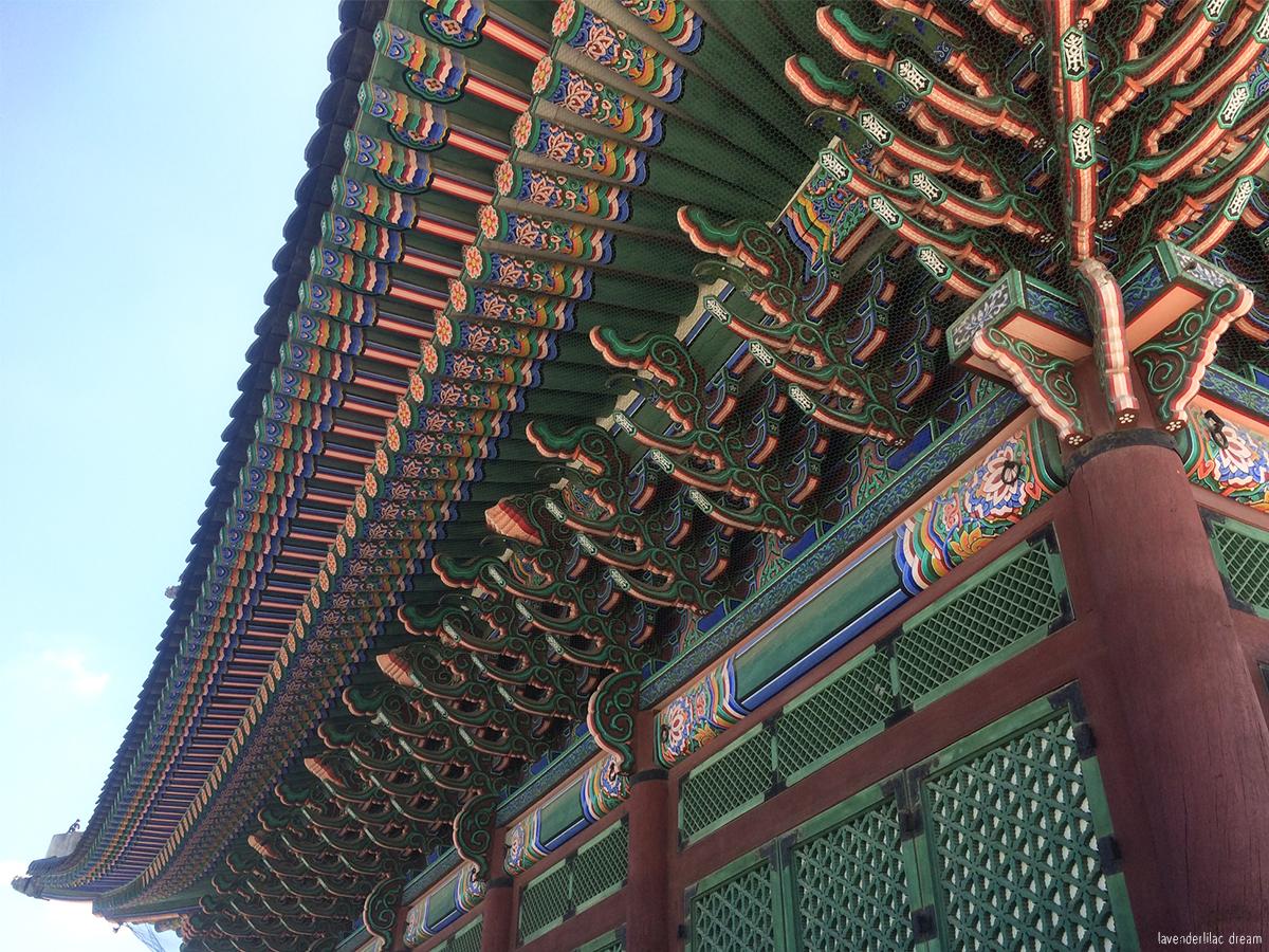 Seoul, Korea - Summer Study Abroad 2014 - Seoul City Touring - Gyeongbokgung 경복궁 景福宫 - Geunjeongjeon 근정전 勤政殿 architecture