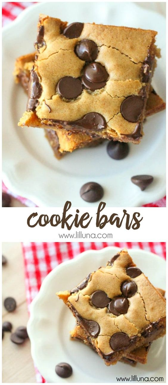 COOKIE BARS RECIPE #cookies #cookierecipes #bars #dessert #dessertrecipes #easydessertrecipes