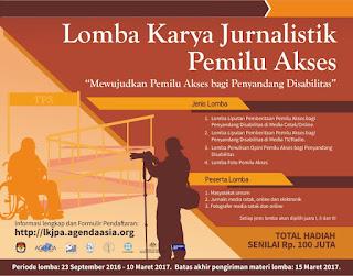Lomba Karya Jurnalistik Pemilu Akses KPU 2017