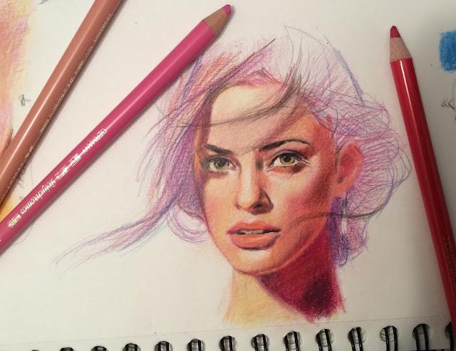 Dibujo con lápices de color Polychromos