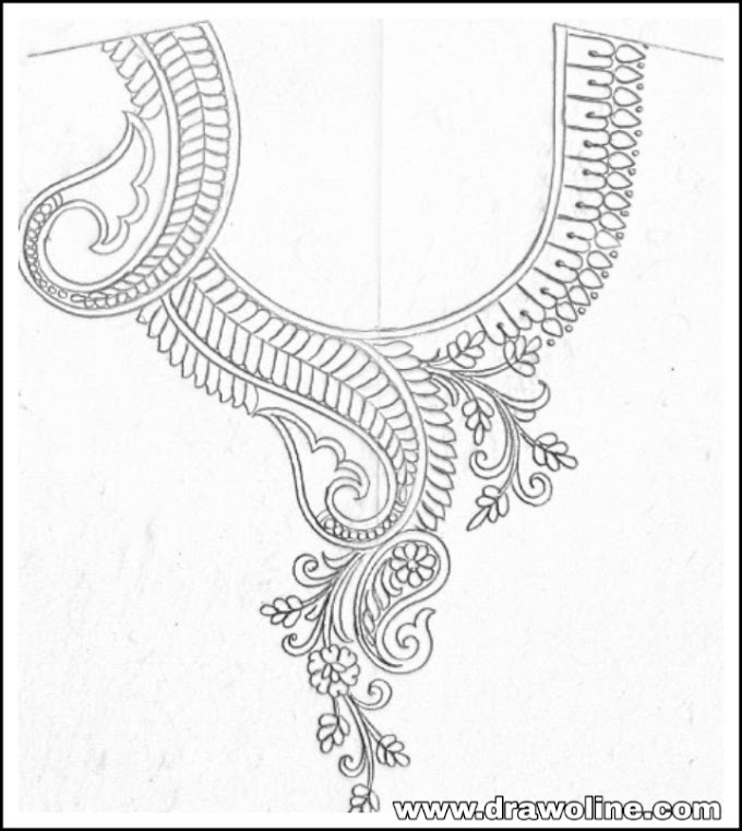 neck design for embroidery/neck patterns for embroidery blouse