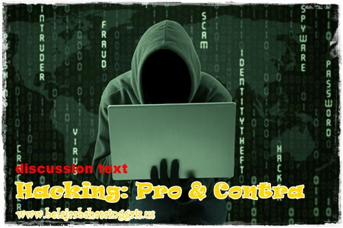 Contoh Discussion Text : Hacking + Terjemahan