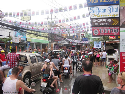 Songkran 2013 on Koh Samui, downtown Chaweng