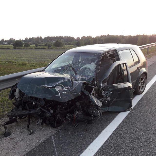 Trīs auto avārija uz Lielupes tilta