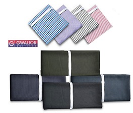 Gwalior Suiting's Formal Wear – Pack Of 20 (10 Shirts And 10 Pants Fabric) for Rs.1475 Only @ Snapdeal