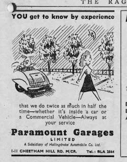 ParamountGarageAdvert_CoronationRagMagManchesterUniversity1953