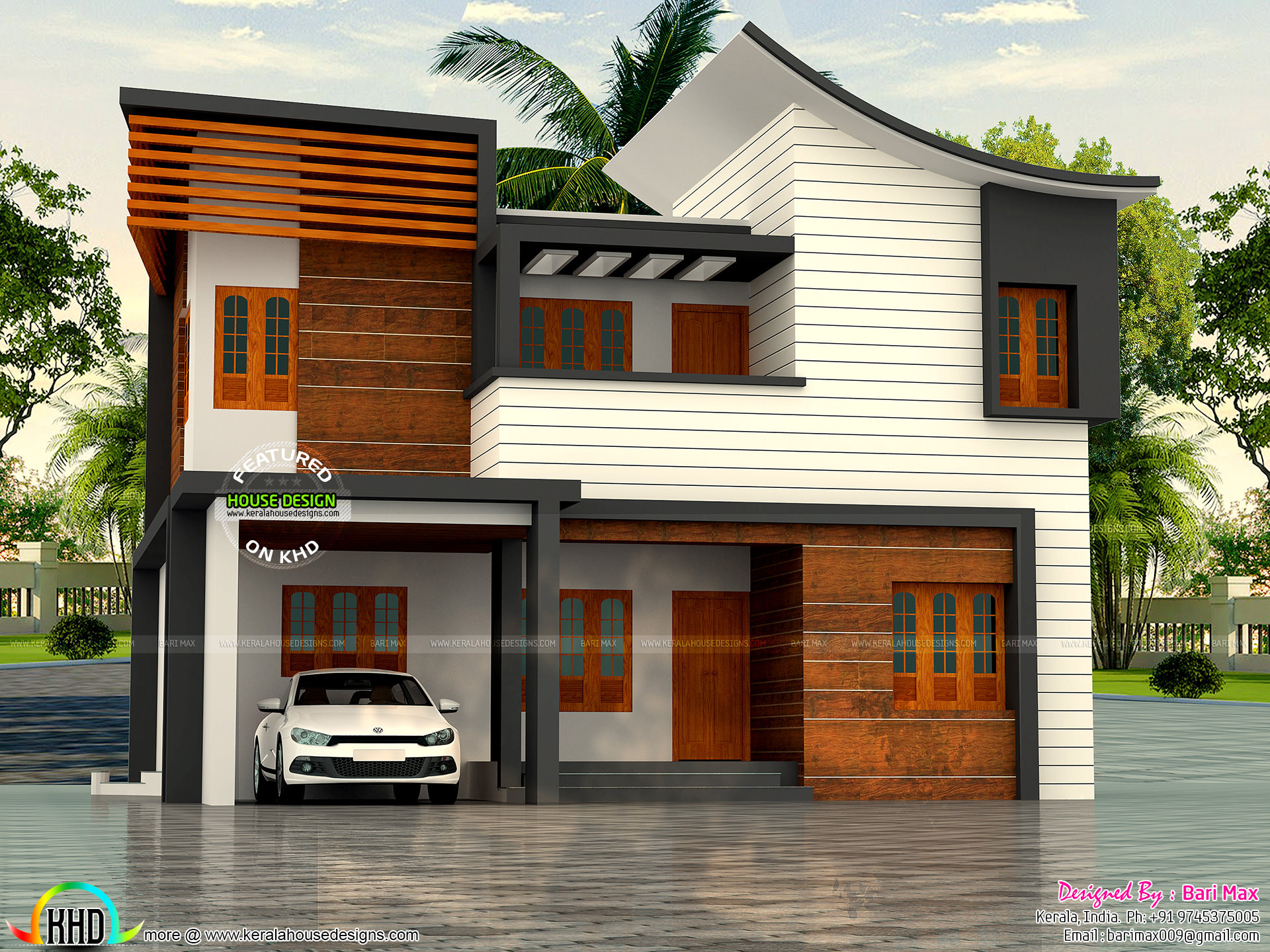 30 lakh cost 1900 sq ft 4 bedroom home kerala home for House plans with estimated cost to build in kerala
