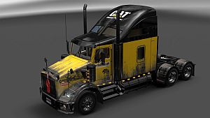 Caterpillar Clean & Dirty paint job for Kenworth T800