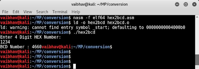 C program for å konvertere bcd til heksadesimale