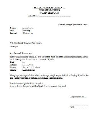Undangan Pengambilan Surat Kelulusan Ujian