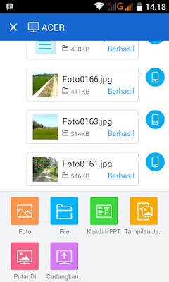 Cara mengirim/mentransfer file dari komputer ke ponsel android atau sebaliknya tanpa kabel data